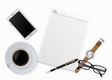 Tabla de trabajo del escritorio Fotos de archivo libres de regalías