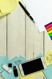 Tabla de trabajo, tabla de funcionamiento fotografía de archivo libre de regalías