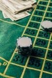 Tabla del casino con los microprocesadores colocados imagen de archivo