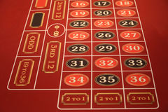 Tabla del casino en un barco de cruceros Fotografía de archivo