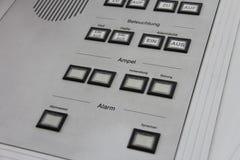 Tabla del centro de control Foto de archivo libre de regalías