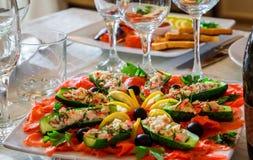 Tabla del día de fiesta, bocadillo de la comida Imagenes de archivo