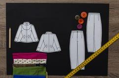 Tabla del diseñador de moda Fotografía de archivo