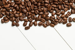 Tabla del ona de los granos de café Fotos de archivo