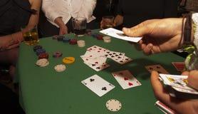 Tabla del póker Fotos de archivo libres de regalías