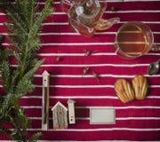 Tabla del postre de la Navidad Foto de archivo
