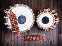 Tabla drums and bells for Dancing Stock Photos