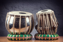 Tabla drums. Indian classical music instrument close up stock photography