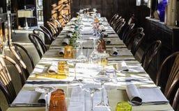 Tabla en un restaurante italiano Imagen de archivo
