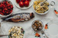Tabla festiva sabrosa Fotos de archivo