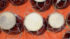 Tabla, handicraft items on display , Kolkata stock video footage