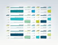 Tabla, horario, etiqueta, planificador, plantilla infographic del diseño ilustración del vector