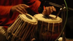 Tabla - An Indian musical instrument stock footage
