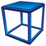 Tabla lateral azul Imagen de archivo
