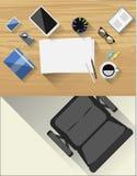 Tabla para el artista creativo Stock de ilustración