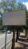 Tabla/placa del camino Imagen de archivo libre de regalías