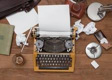 Tabla real del ` s del escritor Imágenes de archivo libres de regalías