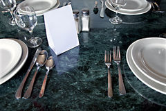 ?Tableware reservado Foto de archivo