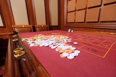 Tabla roja del casino imagen de archivo libre de regalías