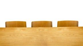 Tabla y silla de madera Imagen de archivo libre de regalías
