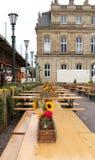 Tablas adornadas para un festival en Alemania fotografía de archivo libre de regalías