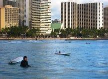 Tablas hawaianas en Hawaii Imágenes de archivo libres de regalías