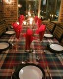 Table étendue pour la soirée de Noël Image stock
