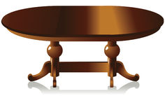 The table. This is dining table, made of wood. This is editable file stock illustration