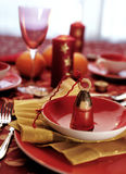Table. Christmas decoration of the table stock photography