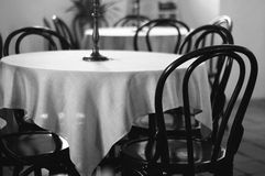 Table. Restaurant table,banfy casttle ,cluj Stock Image