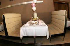 Table. Turabo wedding ballroom for weddings Stock Photography