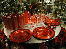 Table. Christmas table Royalty Free Stock Image