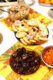 On the table. Sweet food in chrismast time Stock Photo