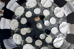 Table. For the party, view from the top Royalty Free Stock Image