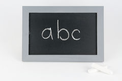 Table abc with chalk Royalty Free Stock Photo