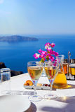 Table above sea for two Stock Images