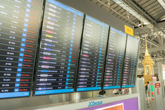 Table airline arrivals Royalty Free Stock Photography