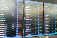Table airline arrivals Stock Photography
