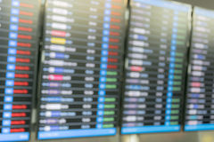 Table airline arrivals Stock Photos