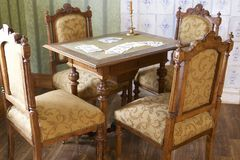 Table And Chairs In The Early Twentieth-century Style Royalty Free Stock Images