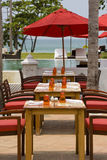 Table And Chairs On Beach Royalty Free Stock Image