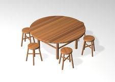 Table And Stool Royalty Free Stock Images
