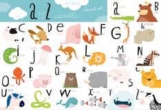 Table animale mignonne d'alphabet de vecteur Images libres de droits