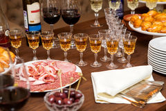 Table for the aperitif Stock Photos