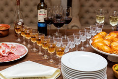 Table for the aperitif Royalty Free Stock Photography