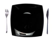 Table appointment-dishware on white background. Stock Photos