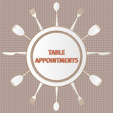 Table appointments Stock Photo