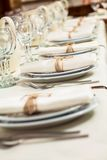 Table appointments at a restaurant Royalty Free Stock Photo
