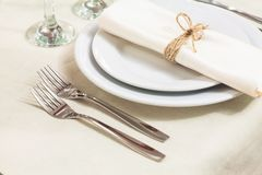 Table appointments at a restaurant Royalty Free Stock Photography