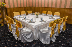 Table arranged for party Royalty Free Stock Image